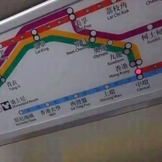 港鐵西港島綫路綫燈箱 (網上圖片)