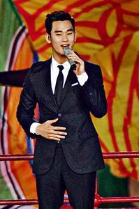 韓星金秀賢扮演的「都敏俊」,有不少本地家長取其同音「浚」作為孩子名字。 (中新社資料圖片)