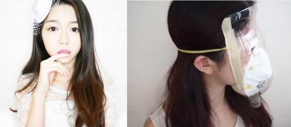 港女自製防毒面具 2分鐘學識