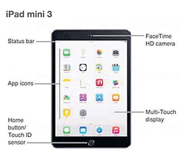 蘋果說明書發布會前提早披露了新iPad外形,列明新增Touch ID。