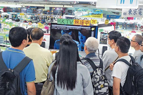 不少市民近日到腦場,了解如何用電視盒子收看港視。