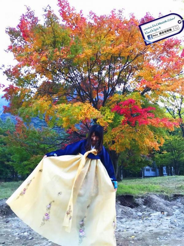 束草。穿著韓服的韓國雪嶽山紅葉遍地賞楓遊