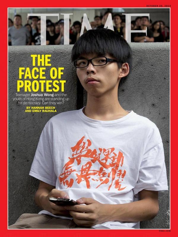 黃之鋒早前登上《時代雜誌》亞洲版封面