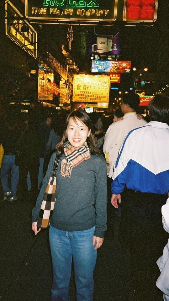 香織最愛香港的街頭景象(圖片由隅田香織提供)