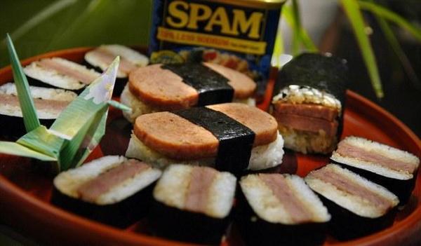午餐肉壽司(圖:Daily Mail)