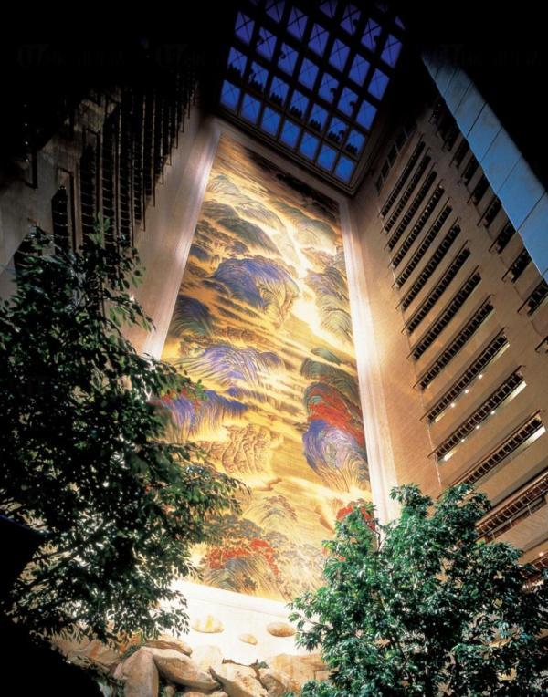 世界上最大酒店壁畫:港島香格里拉酒店(圖:網上圖片)