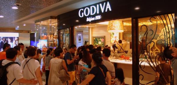其實,Godiva 喺當地人眼中只係普通朱古力牌子