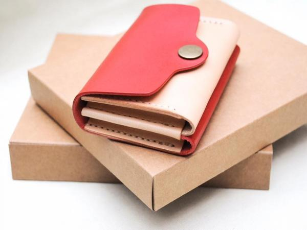 圖: FB@Leatherism Handmade Products 港產皮革 手縫牛皮{雙層}卡片套材料包 $268
