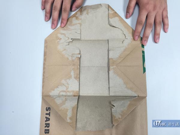 15分鐘便完成!星巴克紙袋變紙銀包