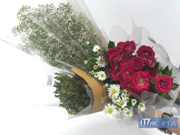 在旺角花墟購買的鮮花