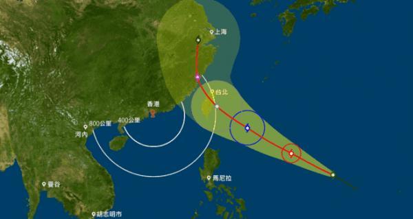 尼伯特周五或變超強颱風 本周持續酷熱