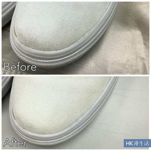 梳打粉 + 水 + 雙氧水清潔法效果對比圖