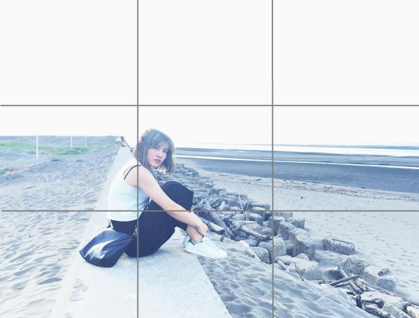 掌握3點輕鬆拍出女神照 :九宮格拍出完美構圖