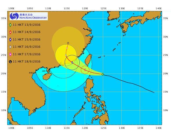 超強颱風莫蘭蒂逼近!天文台: 明早或掛一號