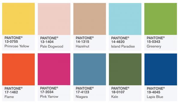 PANTONE公佈 2017年春季十大流行色