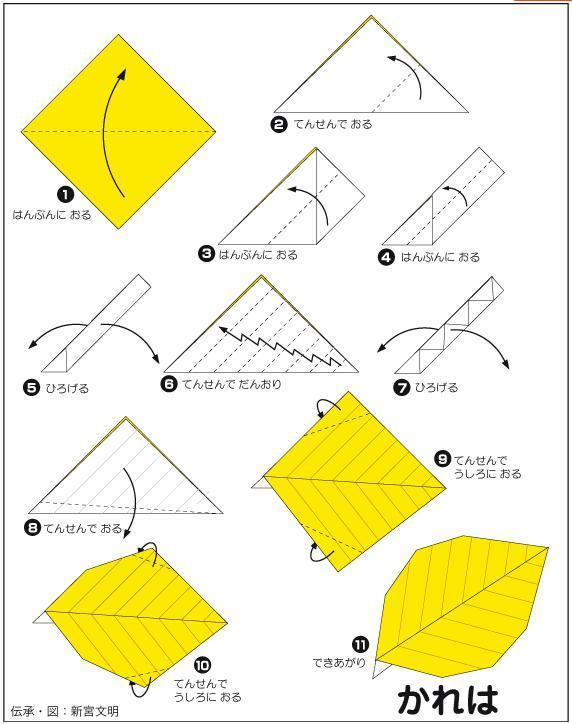 枯葉摺紙教學