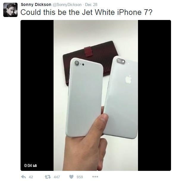 iPhone7新亮白色Jet White流出