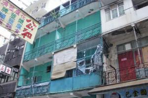 巴路士街的 4 幢綠屋現已相當殘破。