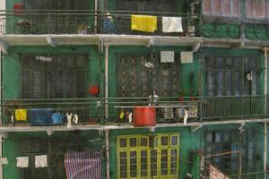這是位於集成中心的綠屋模型,幾可亂真。