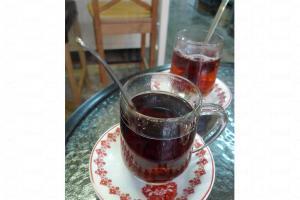 來自台灣的藍莓紅茶,每杯 $20。