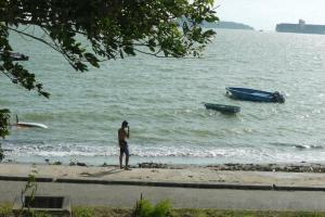除了玩 wakebaord 外,亦有泳客前來暢泳。