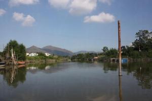 在橫水渡上可感受到漁民新村的水鄉風情。