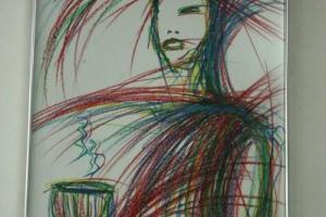 店內更可見鄧達智的畫,可見他對華嫂美食的認同。