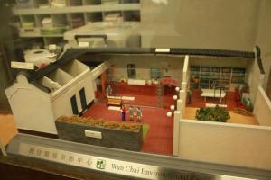 環境資源中心深受學生歡迎,更可在內由模型一窺其全貌。