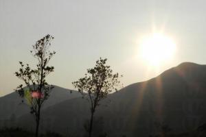 到達眺望台時,太陽正準備徐徐落下。