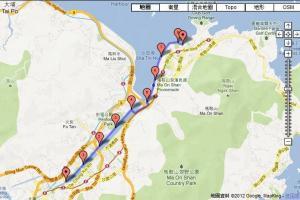 沙田至馬鞍山路線以大直路為主,十分易跑。