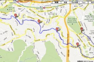 上山路段加上寶雲道共 6km。