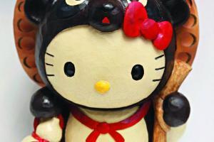 Hello Kitty 造型錢箱$358。