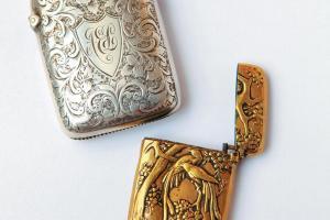 1880 年銀鑄火柴盒$1,100(金);$1,200(銀)