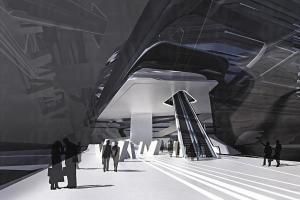 大樓內還有貫通展覽場地與高層教學課室的長電梯。