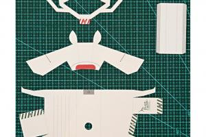 工序簡單:根據紙樣上的虛綫切割出動物形狀。