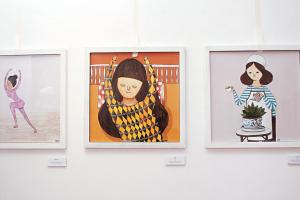 SUNTUR 的插畫在網上廣受青睞,野餐場 內的小屋展覽了他別樹一幟的藝術作品。