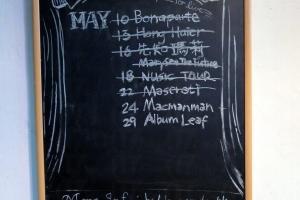 Hidden Agenda每月的表演均寫在小黑板上,下月的詳情請瀏覽官網