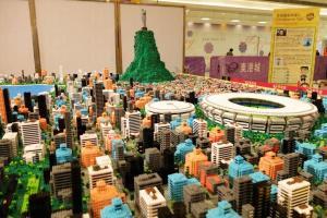 以25萬塊微積木打造——3米乘3米巴西里約熱內盧微縮城市