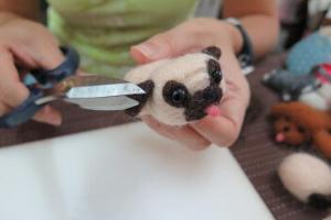 最後修剪羊毛,就完成了