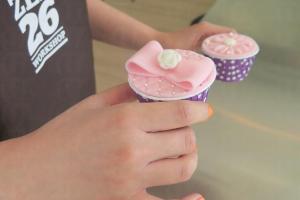 Cup cake亦可製作糖皮蛋糕