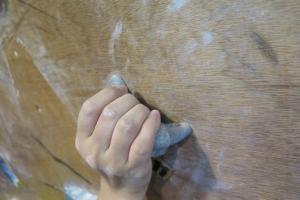 抓緊石塊的方法:Incut,手指可伸入,最易抓緊