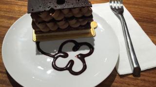 朱古力蛋糕。
