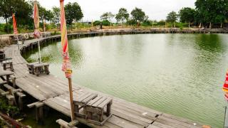 在這魚場釣魚夠容易,可能姜太公來到都釣到魚。