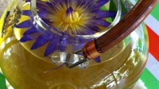 敬輝農場的香水蓮花茶,泡在茶湯中的蓮花就如藝術品般美。