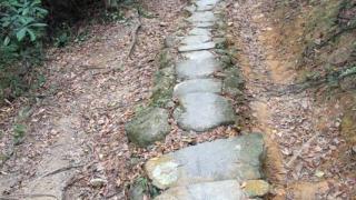 甲龍古道是由前人一手一腳用石塊堆砌而成,充分體現了「路是人行出來」的精神。