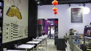 HMV Kafe 環境舒適,內進是露天茶座