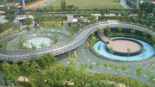 九龍灣公園單車場的8字型賽道(圖:觀塘區議會提供)