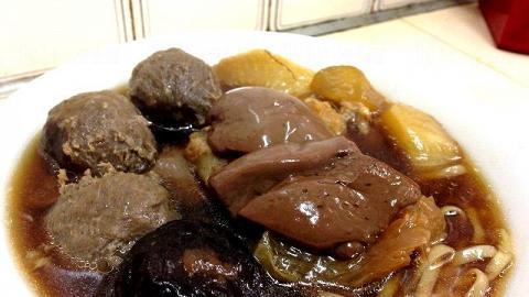 旺角明記麵食 冬菇和豬紅是必點食品