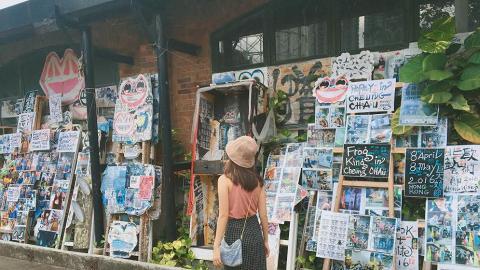 其中一面牆佈滿藝術作品,是不錯的打卡位!