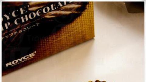 塗抹了一面巧克力,剛剛好。